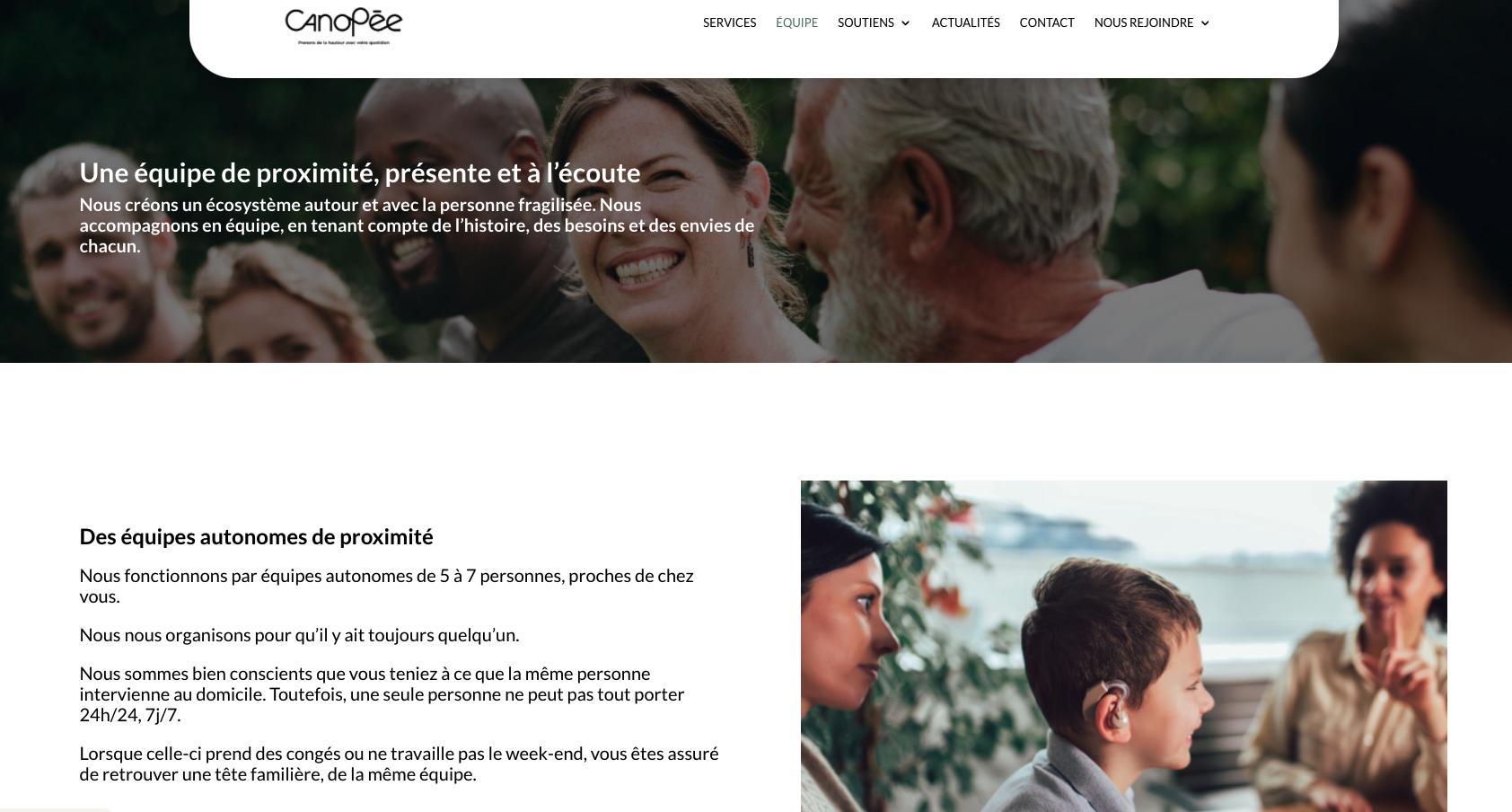 Site internet de l'entreprise Canopée