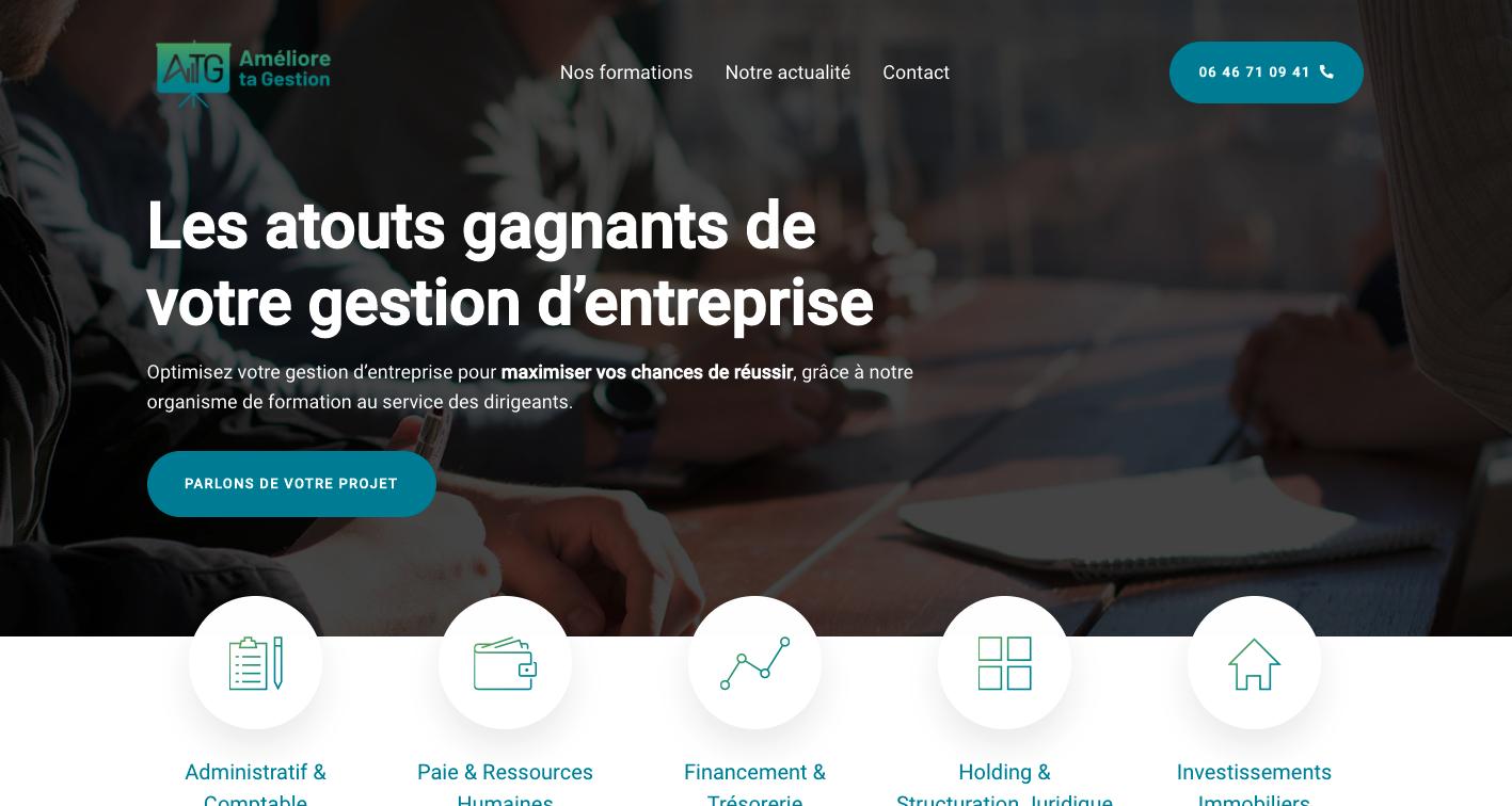 Site internet de l'entreprise ATG
