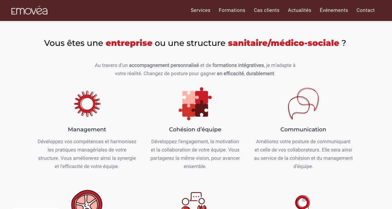 Site internet de l'entreprise EMOVÉA