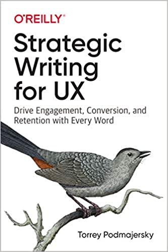 Livre Strategic Writing for UX