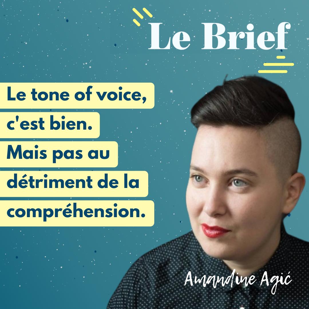 Le tone of voice, c'est bien, mais pas au détriment de la compréhension - épisode avec Amandine AgiLe tone of voice, c'est bien, mais pas au détriment de la compréhension - avec Amandine Agić