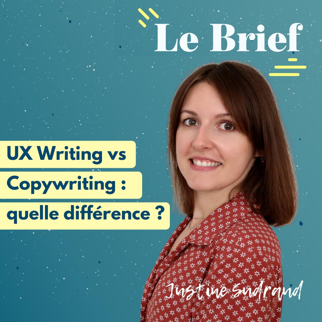 UX Writing vs Copywriting : quelle différence ? Échanges avec Justine Sudraud